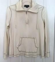 L-RL Ralph Lauren Active Men's X L Thermal Pullover Zip Collar off White Cream - $59.39