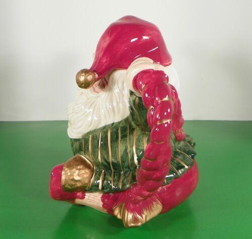 Vintage 1989 Fitz and Floyd Christmas Santa Teapot Old World Elf - $39.44