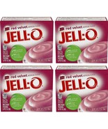 Jell-O Red Velvet Instant Pudding Mix (4 Boxes), 3.4 oz Box - Exp Date 0... - $19.99