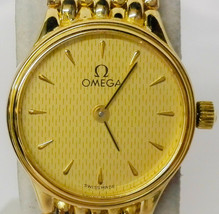 Preparative Omega K18 750 Ladies Watch Quartz  Free Shipping Japan Authe... - $3,031.03