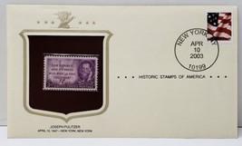 Joseph Pulitzer Historic Stamp 2003 New York NY - $5.93
