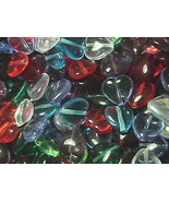 12mm Hearts Mixed Colors Czech Glass Beads (100) - $9.59