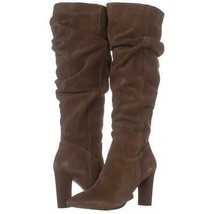 Franco Sarto Artesia Pointed Toe Slouch Knee High Boots 222, Light Brown Suede, - $63.35