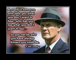 Inspirational Dallas Cowboys Football Motivation Poster Landry Quote Wal... - $19.99+