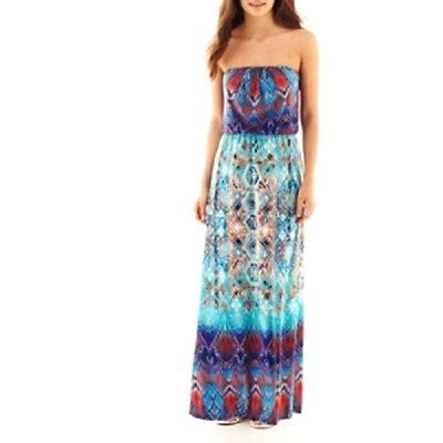 Primary image for New Bisou Bisou Women Strapless Blouson Maxi Dress Size 6 Msrp $80.00