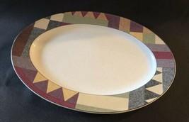 Set of 2 Mikasa Studio Nova Palm Desert Oval Platter 14X10 Nancy Green - $39.55