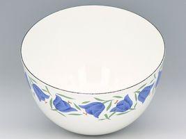 """Vintage Arabia Finland Blue Bell Enamelware 8 3/8"""" Mixing Bowl MINT, Unused image 4"""
