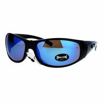 Mens Choppers Sunglasses Flaming Eagle Design Oval Wrap Frame UV 400 - $11.83+