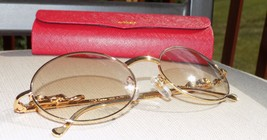2c94d54dd2a55 Cartier Custom Panther Series 2012 Oval Lens Buffalo Sunglasses -  300.00
