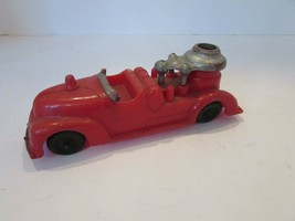 """VTG HUBLEY KIDDIETOY FIRE TRUCK PLASTIC AS IS 5.75""""L MADE IN USA   H2 - $5.67"""