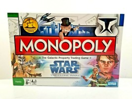 Monopoly Star Wars The Clone Wars Board Game 2008 Parker Brothers NEW SE... - $27.67