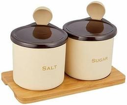 *Ishigaki industry Sugar & Salt set 300ml spoon, with wooden stand - £34.70 GBP