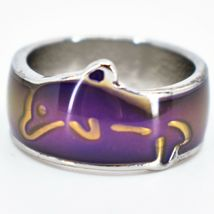 Cute Jumping Dolphin Children's Color Changing Fashion Mood Ring image 8