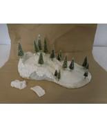 Snowbabies Dept 56 Frolic Snow Sledding Hill Display Scene Trees For Min... - $82.19