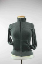 Juicy Couture Womens TALLA Velour Full Zip Gray Jacket  Sz S - $11.62