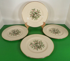 Lenox PRESIDENTIAL SPECIAL Salad Plate (s) LOT OF 4 Holiday Large Decal - $44.50
