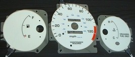 96-00 Honda Civic DX MT Manual Stick Shift Cluster White Face Glow Gauge... - $14.84