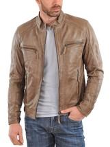 New Men's stylish handmade motorcycle leather jacket designer - $159.99+