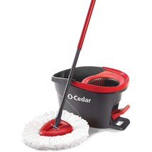 O-Cedar EasyWring Microfiber Spin Mop and Bucket Floor Cleaning System - $38.54