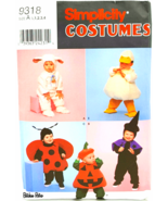 Simplicity Sewing Pattern 9318 Toddler Costumes Duck Lamb Ladybug Pumpki... - $6.00