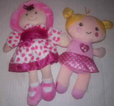 Lot 2 Fisher Price Plush Giggle Doll Baby & Kids Perferred Pink Dress So... - $5.93