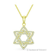 Star of David Jewish Magen Charm CZ Crystal .925 Sterling Silver 14k GP ... - $28.50+