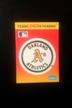 Baseball Cards -- Oakland Athletics -- 1991 Fleer -- MLB Team Logo Sticker - $1.00