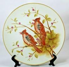 Hand Painted Lefton China Japan Collectors Plate SL 8130 Cardinals - $15.83