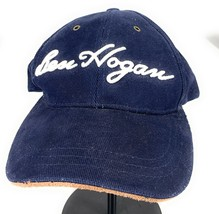 Ben Hogan Leather Strapback Adjustable Navy Brushed Cotton Baseball Cap ... - $20.30