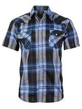LW Men's Western Cowboy Pearl Snap Short Sleeve Rodeo Dress Shirt LW126S (2XL, 1