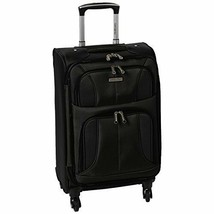 "Carry On 20"" Suitcase Luggage Black Spinner Expandable Four Wheels Unite... - $162.42"