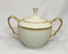 Lenox Tuxedo Gold Covered Sugar Bowl NEW $286 USA - $69.56