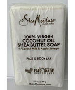 Shea Moisture 100% Virgin Coconut Oil Shea Butter Face & Body Soap Bar New - $7.87
