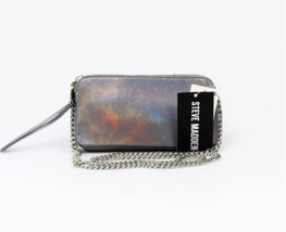 Steve Madden NWT $58 Metallic Crossbody Clutch Small Btinsley Double Zip... - £21.85 GBP