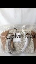 Calvin Klein Hudson Satchel Almond ComboSilver New - $89.99