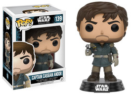 Star Wars Rogue One Captain Cassian Andor Vinyl POP Figure Toy #139 FUNKO NEW - $8.79