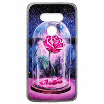 For LG G7 ThinQ / G8 ThinQ Flexible Case Cover Beauty And The Beast Rose... - $22.00