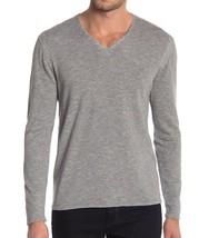 John Varvatos Star USA Men's Long Sleeve V Neck Sweater Striated Knit Grey - $64.22