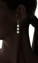 Chloe + Theodora Gold Plated Cubic Zirconia Crystal Triple Crown Earrings NWT image 2