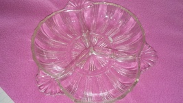 Small clear glass decorative dish - $5.00