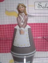 "Schmid Bell Figurine - Japan Porcelain - Girls of the World ""American / ... - $10.80"