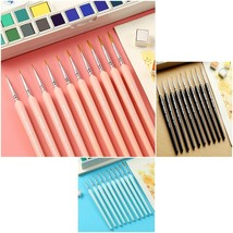 10 Pieces Hook Line Pen Weasel Hair Painting Brush Different Sizes Art S... - $15.99