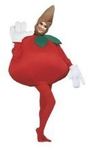 Apple Adult Costume Women Men Worm Tunic Red Food Fruit Halloween Unique... - $64.99
