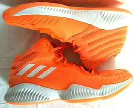 adidas SM Mad Bounce Mens 12.5 D97371 Basketball Shoes Orange & White 2018 image 5