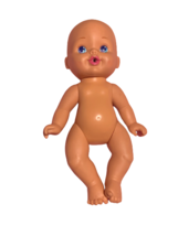 1997 Hasbro Vintage Nude Blue Eyes Baby Girl Doll - $19.80