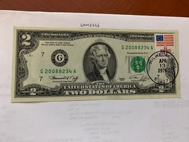 United States Jefferson $2 uncirc. banknote 1976 with stamp #4 - $11.95