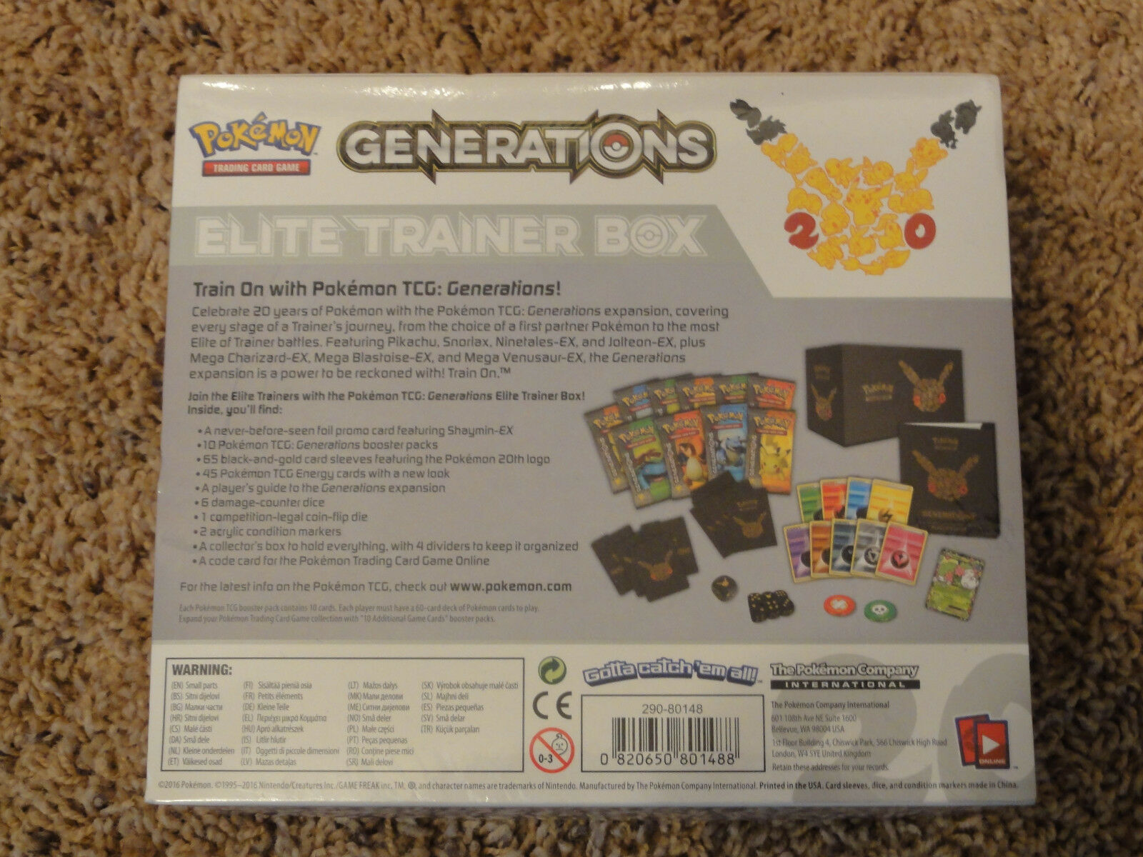 Pokemon TCG: Generations Elite Trainer Box Card Game New Sealed