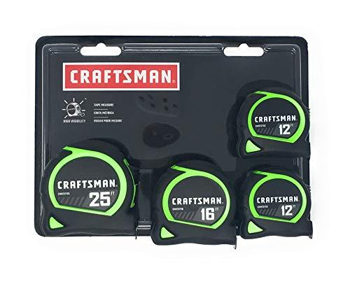 Craftsman High Visibility Tape Measures 4 Pack (1-25ft, 1-16ft, 2-12ft) - $27.43