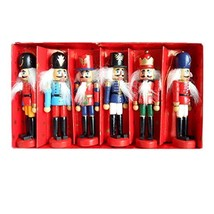 BlueSpace Christmas Nutcracker Ornaments Set Wooden Nutcrackers Hanging ... - $17.40