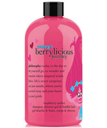 Philosophy TROLLS Shampoo Shower Gel Bubble Bath Poppys Berrylicious Ras... - $31.68